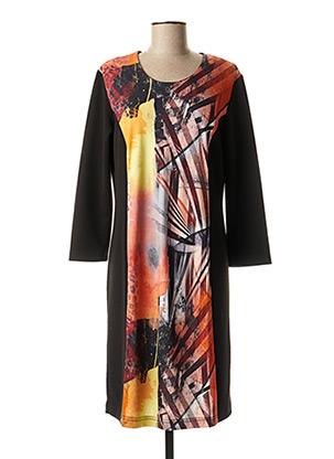 Robe mi-longue orange GEVANA pour femme