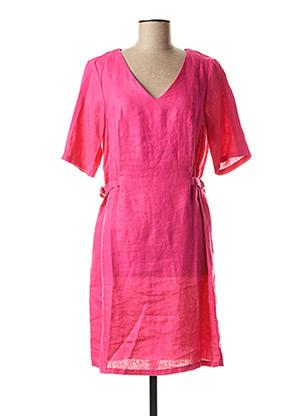 Robe mi-longue rose JULIE GUERLANDE pour femme