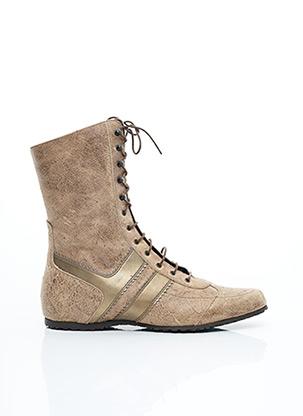 Bottines/Boots beige SAN MARINA pour femme
