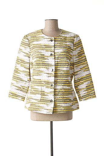 Veste casual jaune FRANK WALDER pour femme