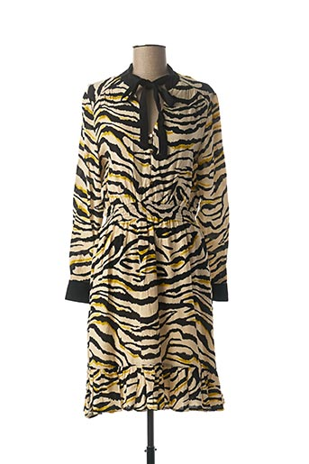 Robe mi-longue beige JUS D'ORANGE pour femme