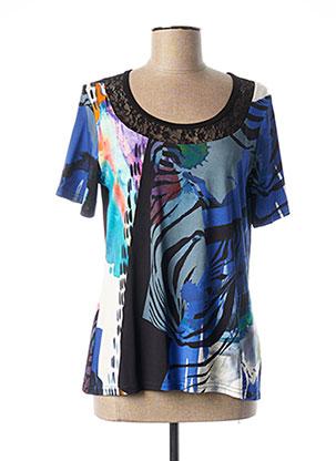 T-shirt manches courtes bleu TELMAIL pour femme