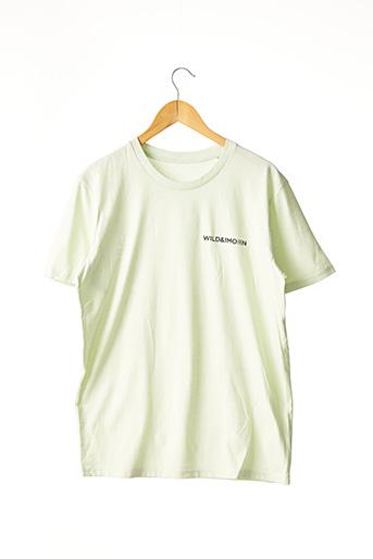 T-shirt manches courtes vert SANS MARQUE pour femme