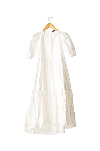Robe mi-longue blanc ZARA pour femme