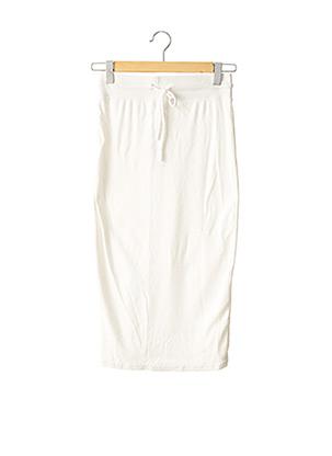 Jupe longue blanc CHIQUELLE pour femme