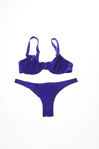 Maillot de bain 2 pièces bleu ETAM pour femme