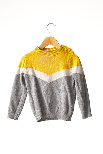 Pull col rond gris BODEN pour fille