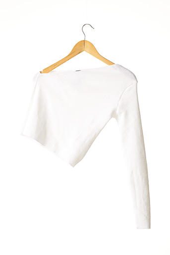 Pull col V blanc NASTY GAL pour femme