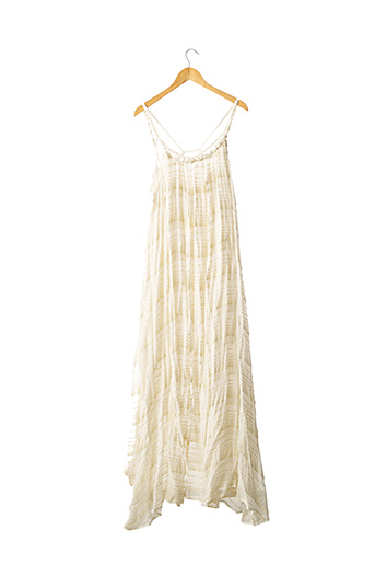 Robe longue beige WILD pour femme