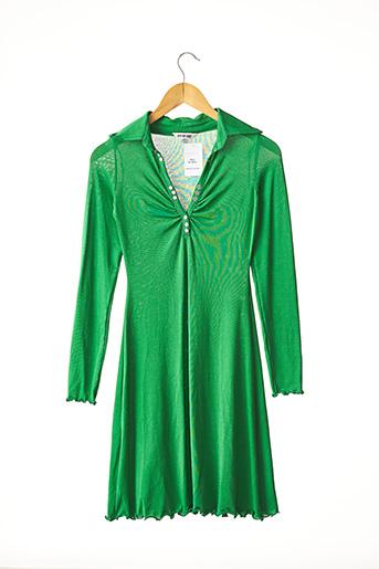 Robe mi-longue vert MIRAE pour femme