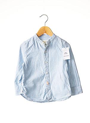 Chemise manches longues bleu BODEN pour garçon