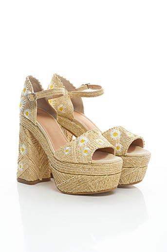 Sandales/Nu pieds beige CASTANER pour femme
