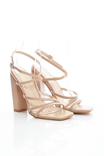 Sandales/Nu pieds beige PRETTY LITTLE THING pour femme
