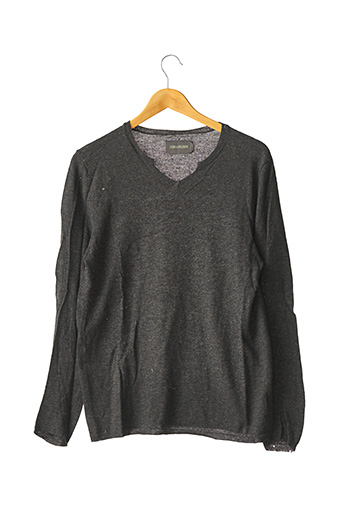 Pull col V gris ZADIG & VOLTAIRE pour homme