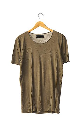 T-shirt manches courtes vert ZARA pour homme
