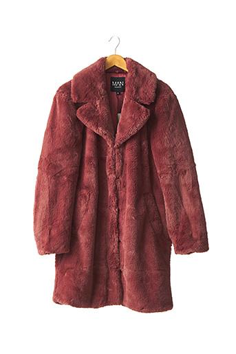 Manteau long rose BOOHOO pour homme