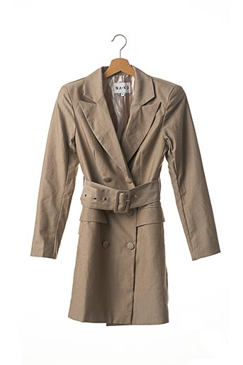 Veste chic / Blazer beige NA-KD pour femme