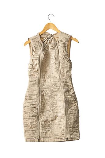 Robe courte beige CARVEN pour femme