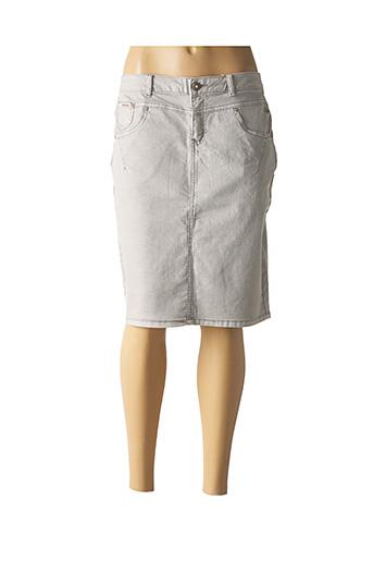 Jupe mi-longue gris CREAM pour femme