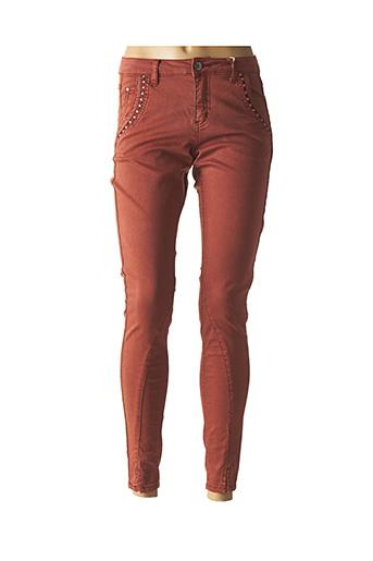 Pantalon casual orange CREAM pour femme
