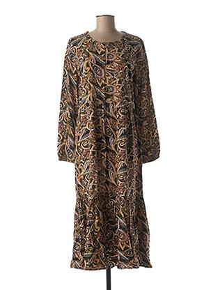 Robe longue marron CREAM pour femme
