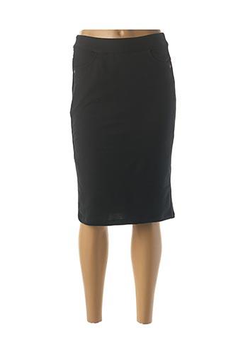 Jupe mi-longue noir JAC JAC pour femme
