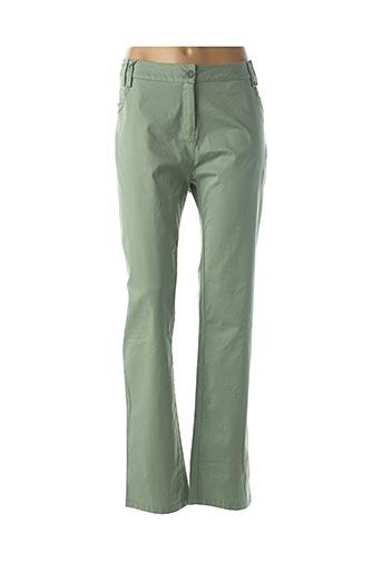 Pantalon casual vert JAC JAC pour femme