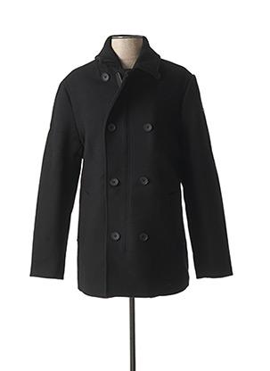 Manteau long noir GUESS pour homme