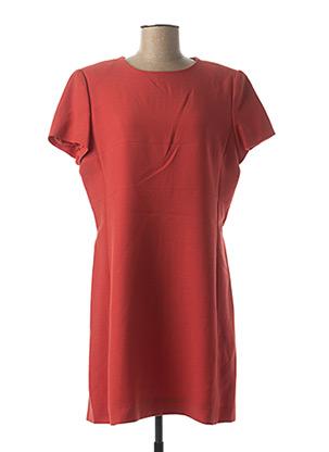 Robe mi-longue orange ELECTRE pour femme