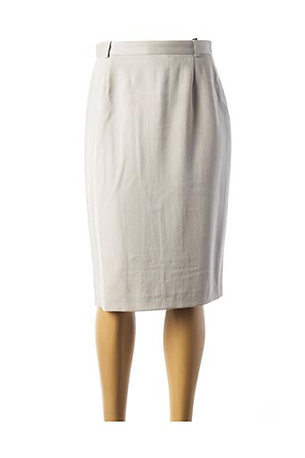 Jupe mi-longue gris ELECTRE pour femme