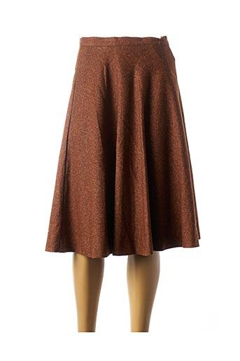 Jupe mi-longue marron BLEU BLANC ROUGE pour femme