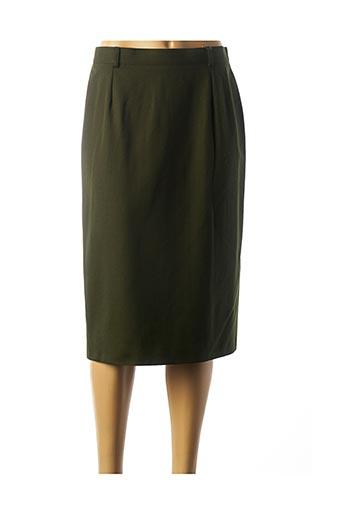 Jupe mi-longue vert LUCIA pour femme