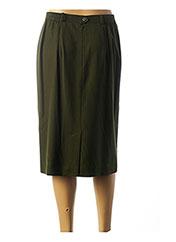 Jupe mi-longue vert LUCIA pour femme seconde vue