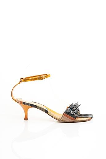Sandales/Nu pieds orange BLEU BLANC ROUGE pour femme