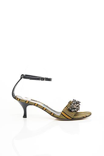 Sandales/Nu pieds vert BLEU BLANC ROUGE pour femme