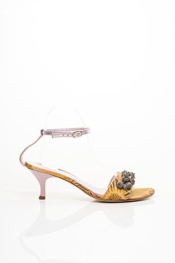 Sandales/Nu pieds violet BLEU BLANC ROUGE pour femme