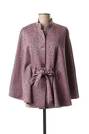 Poncho violet EGATEX pour femme