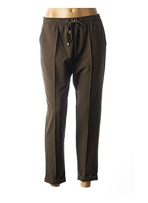 Pantalon casual vert IMPERIAL pour femme