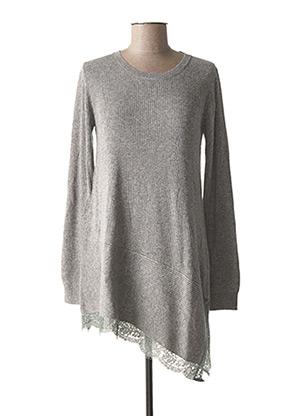 Pull tunique gris FRACOMINA pour femme