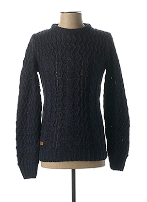 Pull col rond bleu HOPENLIFE pour homme