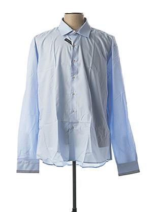 Chemise manches longues bleu ENZO DI MILANO pour homme