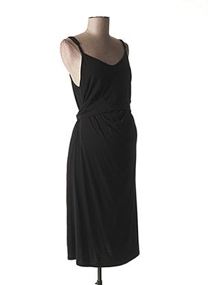 Robe mi-longue noir BOOB pour femme