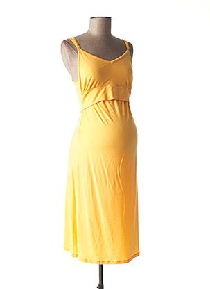 Robe mi-longue orange BOOB pour femme