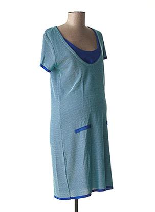 Robe pull vert POMKIN pour femme
