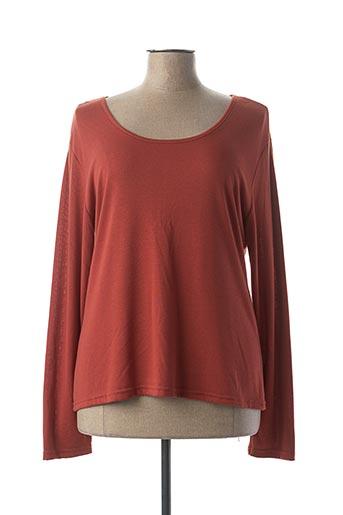 T-shirt manches longues orange HALOGENE pour femme