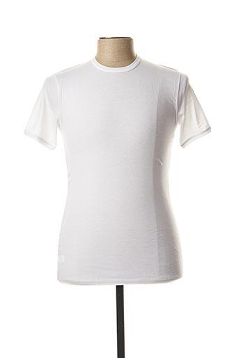 T-shirt manches courtes blanc COTONELLA pour homme