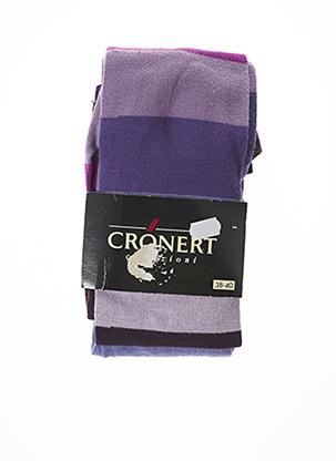 Collants violet CRONERT pour femme