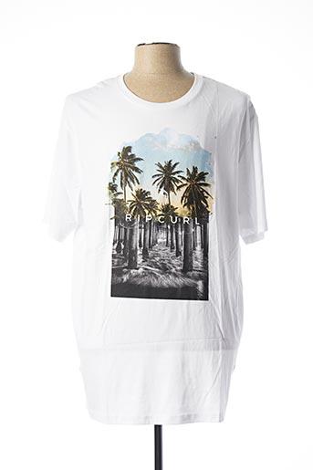 T-shirt manches courtes blanc RIP CURL pour homme