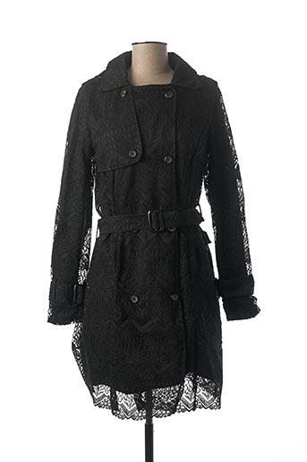 Manteau long noir VIRGINIE & MOI pour femme