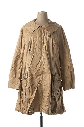 Manteau long beige VIRGINIE & MOI pour femme
